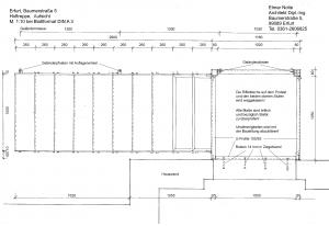 Hoftreppe Aufsicht M 1-10 bei DIN A 4